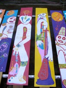 Wall Spirits for D'Arbeau Park 2010 funded by the Prince Claus Fund